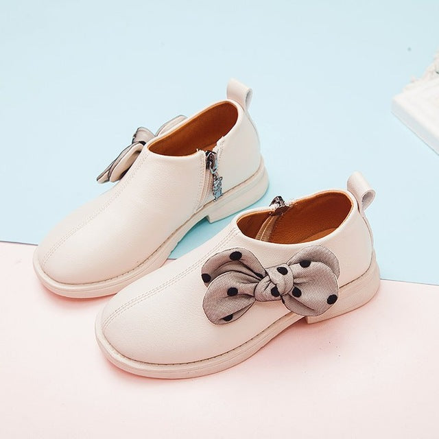 Princess Fashion Bow Little Girl Dress Wedding Party Shoes Big Kids  Children School Leather Shoes 3 4 5 6 7 8 9 10 11 12 Years