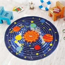 Load image into Gallery viewer, 3 Sizes Kids Rug Round Area Rug Carpet for Kids Solar System Children Learning Area Rug Children's Non Slip Bottom Fun Area Rug