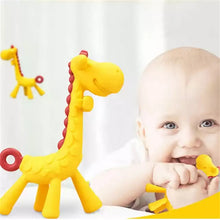 Load image into Gallery viewer, Baby Teether Cartoon Teething Nursing BPA Free Soft Silicone Baby teeth that fawn molar rod giraffe to bite the teether safty