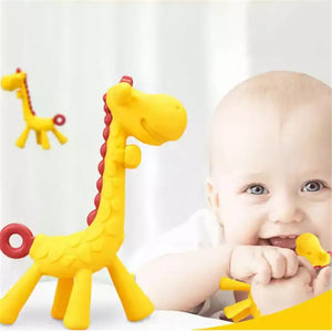 Baby Teether Cartoon Teething Nursing BPA Free Soft Silicone Baby teeth that fawn molar rod giraffe to bite the teether safty