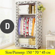 Load image into Gallery viewer, Minimalist Cloth Wardrobe Student Dormitory Single Small Fabric Wardrobe Folding Clothing Storage Cabinet Home Furniture Closet