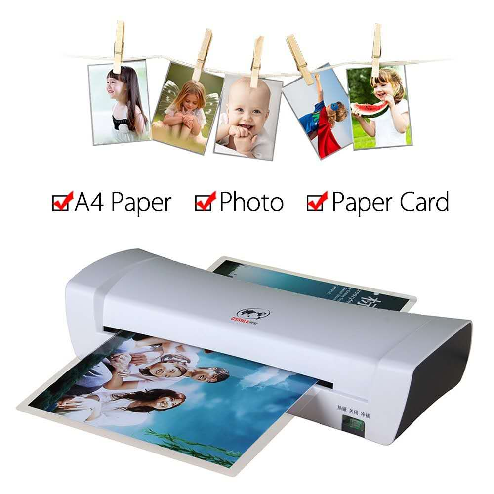 A4 Hot and Cold Laminating Machine Document Photo Paper Cards Picture Painting