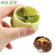 Load image into Gallery viewer, HILIFE Nut Cracker Sheller Chestnut Cross Open Knife Quick Chestnut Cutter Nut Opener Sheller Walnut Pliers Kitchen Gadgets
