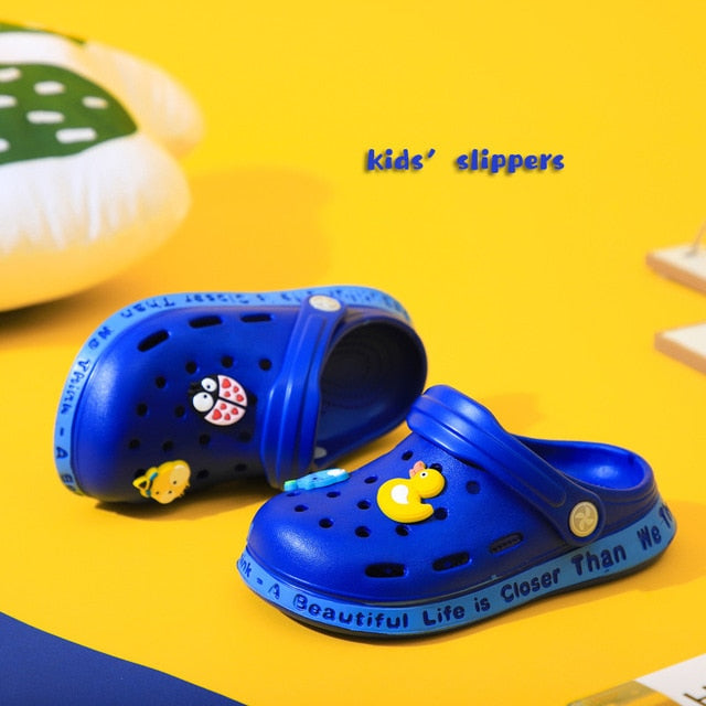 Loveewalk Baby Children Croc Shoes Summer Cartoon Beach Swimming Shoes for Boys Girls Soft Non Slip Indoor Toddler Kids Slippers