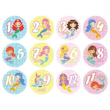 Load image into Gallery viewer, 12 Pcs Month Sticker Baby Photography Milestone Memorial Monthly Newborn Kids Commemorative Card Number Photo Props Accessories
