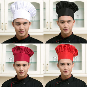 Restaurant Chef Hat Baker Chef Adjustable Catering Elastic Kitchen Cook Hat Men Cap Kitchen Cook uniform Kitchen Workwear Hat