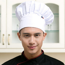 Load image into Gallery viewer, Restaurant Chef Hat Baker Chef Adjustable Catering Elastic Kitchen Cook Hat Men Cap Kitchen Cook uniform Kitchen Workwear Hat