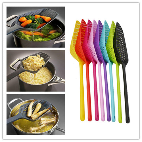 Kitchen Accessories 1pcs No-stick Drain Colanders Shovel Strainers Veggies Water Leaking Kitchen Cooking Tools Kitchen Gadgets