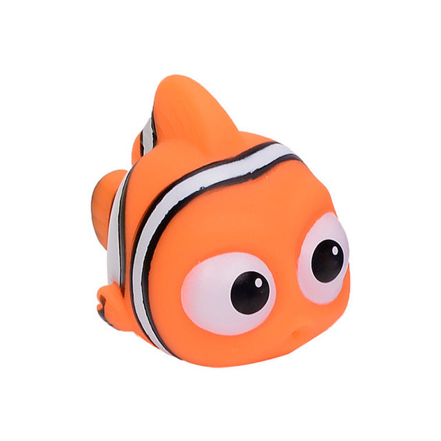 Nemo Dory Float Spray Water Squeeze Toys Baby Bath Toys Finding Soft Rubber Bathroom Play Animals Bath Figure Toy for Children