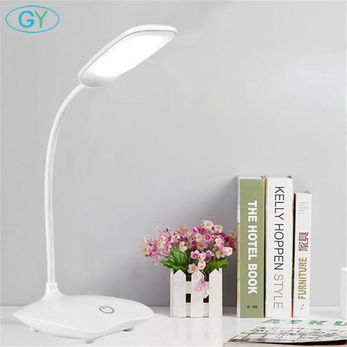 LED Desk Lamp Foldable Dimmable Touch Table Lamp DC5V USB Powered table Light 6000K night light touch dimming portable lamp