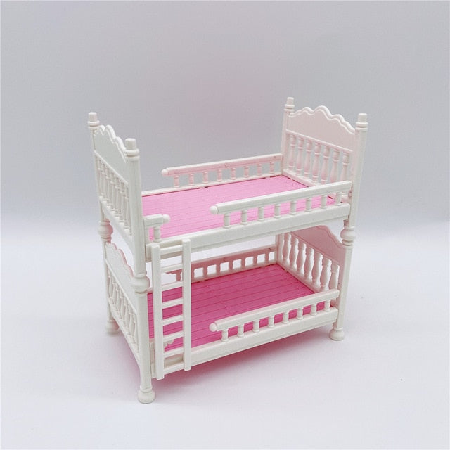 2020 New Fashion Barbies Doll Crib Double Bed Cute Children's Toy Accessories Best Gift for Girls Barbies Plastic Gadget