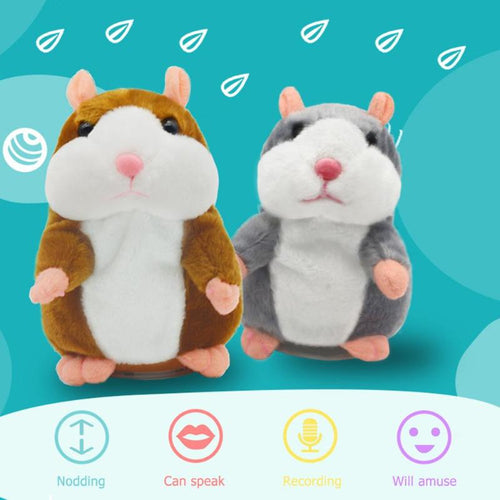 15cm Talking Hamster Falante Mouse Pet Plush Toy Cute Talking Sound Record Educational Stuffed Doll Support Dropshipping