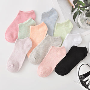 10 pieces = 5 Pairs/lot New Fashion Candy Colored Socks for women and girls Casual Short Ankle Boat Low Cut Lady Sox