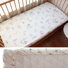 Load image into Gallery viewer, Baby Fitted Sheet For Newborns Cotton Soft Crib Bed Sheet For Children Mattress Cover Protector 130x70cm Allow Custom Make