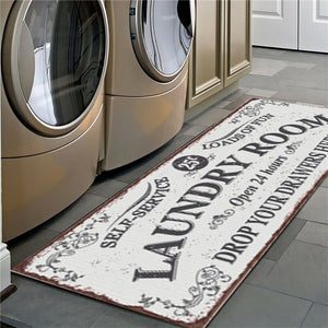 Non-Slip Floor Mat Laundry Room Mat Entrance Doormat Self-Service Laundry Bath Mat Carpet Laundry Room Decor Balcony Rug