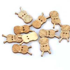 25pcs 18-30mm Natural Sewing Tool Wood Crafts DIY Scrapbooking For Wooden Ornament Home Decoration Sewing Accessories m0901x