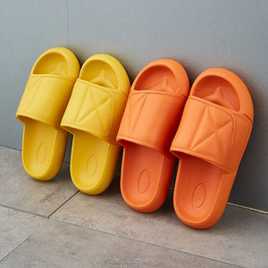Women Indoor Slippers Soft Sides Summer Shoes Woman Men Home Slides Anti-slip Female Lovers Massage Bathroom Slipper