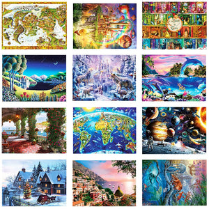 1000 Pieces Thickened Paper Jigsaw Puzzle Educational Toy for Children Adults
