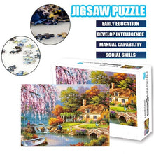 Load image into Gallery viewer, 1000Pcs Jigsaw Puzzle Wooden Paper Puzzles Educational Toys For Children Bedroom Decoration Stickers Kids Gifts