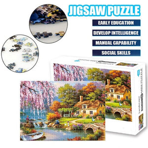 1000Pcs Jigsaw Puzzle Wooden Paper Puzzles Educational Toys For Children Bedroom Decoration Stickers Kids Gifts