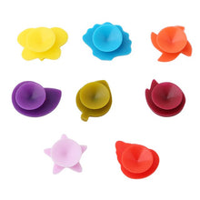 Load image into Gallery viewer, 6/8/12PCs Cute Pet Flowers Silicone Suction Cup Glass Wine Label Recognizer Glasses Marker Bottle Logo Kitchen Party Supplies