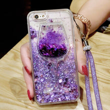 Load image into Gallery viewer, Love Heart Stars Glitter Case For iPhone 11 Pro MAX X XS MAX XR 6 6S7 8 Plus Dynamic Liquid Quicksand Wine Glasses Soft Cover