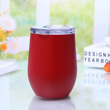 Load image into Gallery viewer, 12oz Thermos cup kettle Coffee Mugs Stainless Steel Stemless Red Wine & Cocktail Glasses Bar Drink Beer Cup