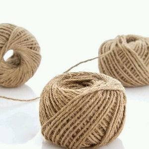 1Roll 30M burlap Rope Natural Jute Twine Burlap String Hemp Rope Wedding Gift Wrapping Cords Thread 3 Colors new year