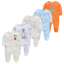 Load image into Gallery viewer, 5pcs Baby Pyjamas Girl Boy Pijamas bebe fille Cotton Breathable Soft ropa bebe Newborn Sleepers Baby Pjiamas