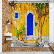 Load image into Gallery viewer, Vixm Western Town  Shower Curtains  Folk Vintage Scenery Waterproof Polyester Fabric Bathroom Curtains For Home Decor