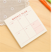 Load image into Gallery viewer, 1Pcs = 60Sheets Simple Creative Monthly Plan / Weekly Plan / Memo Plan Notebook Portable Desktop Plan Office School Supplies