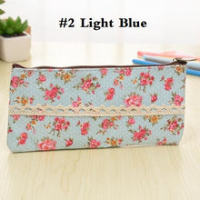 Load image into Gallery viewer, 1pcs/lot Flat Zipper Floral Lace Pencil Case School Supply Promotional School Supplies Stationery Five Selections