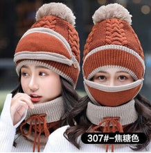 Load image into Gallery viewer, New Fashion Autumn Winter Women's Hat Caps Knitted Warm Scarf Windproof Multi Functional Hat Scarf Set clothing accessories suit