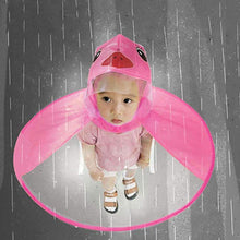 Load image into Gallery viewer, Cute Cartoon Duck Children Raincoat Umbrella UFO Shape Rain Hat Cape Foldable