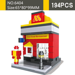 Nice Street Building Blocks Compatible with Classic Model Building Bricks Sets Educational Toys for Children Gifts Brinquedos
