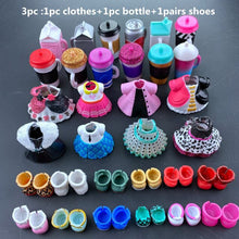 Load image into Gallery viewer, 3pc original LOLs doll clothes,  bottles, shoes accessories for LOLs accessories hot sale