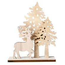 Load image into Gallery viewer, Wooden Christmas Tree Wlk Indoor Outdoor Xmas Holiday Winter Wonderland Party Kid Toys Creative Christmas Table DIY Decor