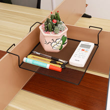 Load image into Gallery viewer, Fashion Square Iron Wire Balcony Office Cubicle Corner Storage Rack Shelf for Books Pens Telephone Plants Pots Picture Frames