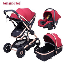 Load image into Gallery viewer, Babyfond Baby stroller high landscape baby Cart  3 in 1 baby  stroller with car seat 2 in 1 baby stroller CE safety