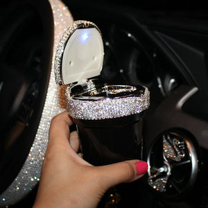 Creative Bling Crystal Diamond Car Ornaments Decoration Car Tissue Box Paper Holder Storage Rhinestone Car Interior Accessories