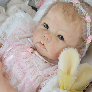 NPK 22inch DIY toy Popular reborn doll kit Maddie very soft lifelike real touch fresh color unpainted doll parts