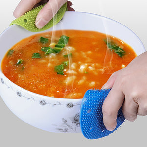 1pc Multi-purpose Silicone Vegetable Fruits Cleaning For Potato Heat-insulation Carrot Ginger Brush Soft Pads R4Y8