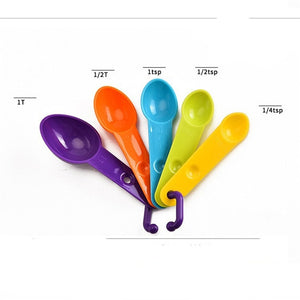 4pcs/set Measuring Cup Kitchen Measuring Spoon Teaspoon Coffee Sugar Scoop Baking Cooking Kitchen Measuring Cups Tools Set