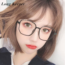 Load image into Gallery viewer, New Oversize Square Glasses Frame Women Anti-blue Light Eyeglasses Female Computer Big Eyeware Black Clear Lens Spectacles