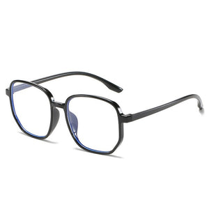 New Oversize Square Glasses Frame Women Anti-blue Light Eyeglasses Female Computer Big Eyeware Black Clear Lens Spectacles