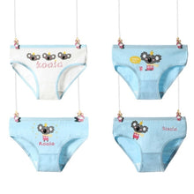 Load image into Gallery viewer, 4 Pcs/Lot Cotton Soft Panties For Girls Lovely Baby Girls Underwear Cartoon Cat Briefs Breathable Children Panty Kids Underpants