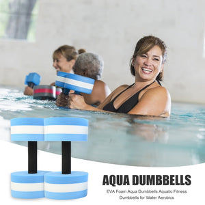 Exercise Fitness Dumbbells 2x EVA Foam Aqua Dumbbells Aquatic for Water Aerobics Portable Swimming Inflatable Float