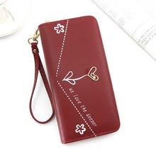 Load image into Gallery viewer, Mouse Long Wallet Cute lady long zipper tassel key coin purse student small mini wallet Minnie card holder Clutch billetera