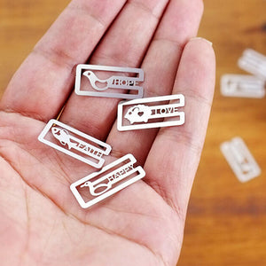 20pcs/lot Random Style Mini Metal Clips Cute Cartoon Animal Plated Sliver Money Clips