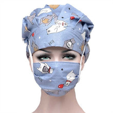 Load image into Gallery viewer, Scrub Caps Sets Cotton Adjustable Sweatband Bouffant Hats Women Flower Printed Reuseable Work Wear Washable Hats Accessories